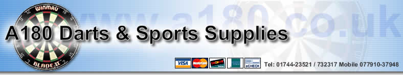 A180 Supplies & Karls Darts for Darts, Dartboards, Flights, Stems and Bingo Machines.
